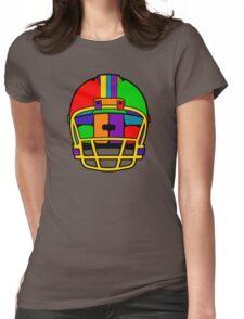 Football Helmet (Rainbow) Womens Fitted T-Shirt