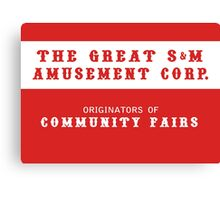 The Great S&M Amusement Corp. (Ace in the Hole) Canvas Print