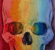 Rainbow Skull by Michael Creese