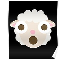Sheep Emoji Shocked and Surprised Look Poster