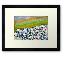Curved Hill with Blue Rings Framed Print