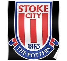 stoke city football club logo Poster