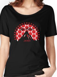 Alpe d'Huez 2016 (Red Polka Dot) Women's Relaxed Fit T-Shirt