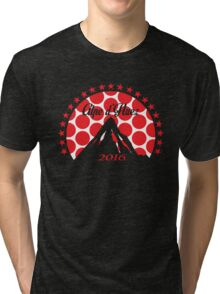 Alpe d'Huez 2016 (Red Polka Dot) Tri-blend T-Shirt
