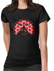 Alpe d'Huez 2016 (Red Polka Dot) Womens Fitted T-Shirt