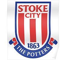 stoke city logo Poster