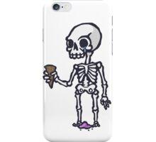 Skeleton Ice Cream  iPhone Case/Skin