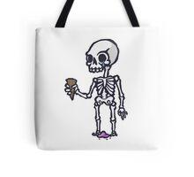 Skeleton Ice Cream  Tote Bag
