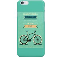 Bike Quotes #1 iPhone Case/Skin