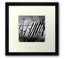 Ganivelles aux Blancs Sablons Framed Print