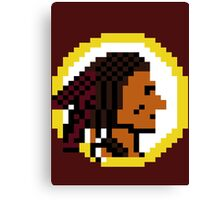 Throwback Redskins 8Bit - 3squire Canvas Print