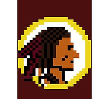 Throwback Redskins 8Bit - 3squire Photographic Print