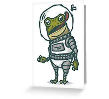 Spacesuit Frog Greeting Card