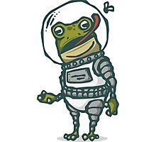 Spacesuit Frog Photographic Print