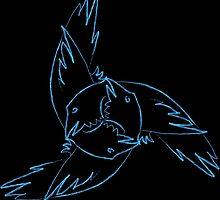 Tri-Horn Ravens by scrapophilia