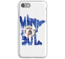 Minnesota Typographic Map Flag iPhone Case/Skin