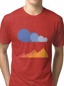 Mountains and Clouds Tri-blend T-Shirt