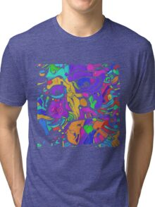 Deep Neural Hokusai 2 Tri-blend T-Shirt
