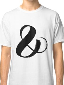 Ampersand symbol black brush calligraphy Classic T-Shirt