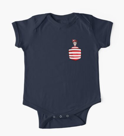 Wally / Waldo is in my pocket One Piece - Short Sleeve
