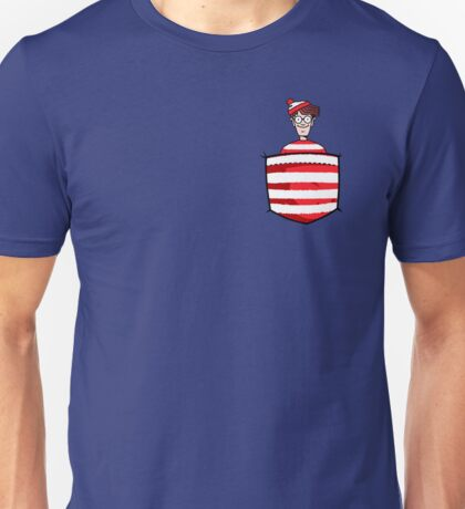 Wally / Waldo is in my pocket Unisex T-Shirt