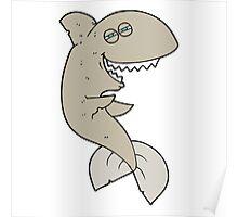 cartoon laughing shark Poster