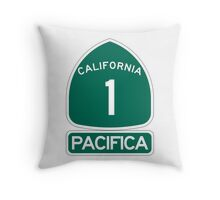 PCH - CA Highway 1 - Pacifica Throw Pillow