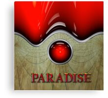 I Can See Paradise by The Console Light Canvas Print