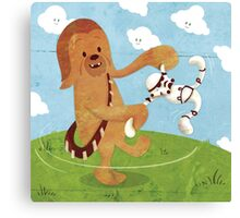 Star Wars babies - inspired by Chewbacca Canvas Print