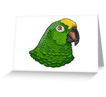 Yellow crowned Amazon parrot  Greeting Card