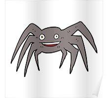 cartoon happy spider Poster