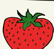 cartoon strawberry jam jar Sticker