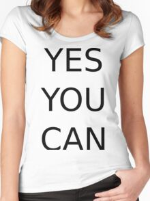 yes you can Women's Fitted Scoop T-Shirt