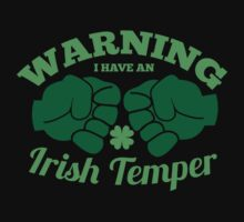 WARNING I have an IRISH TEMPER! Kids Clothes