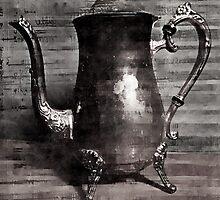 Sip of tea (grey scale) by kelseynearing