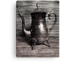 Sip of tea (grey scale) Canvas Print
