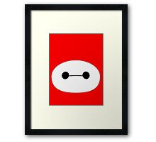 Baymax Head Framed Print