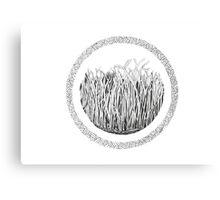 Grass circle #1 Canvas Print