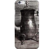 Sip of tea (grey scale) iPhone Case/Skin