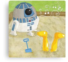 Star Wars babies - inspired by R2-D2 and C-3PO Canvas Print