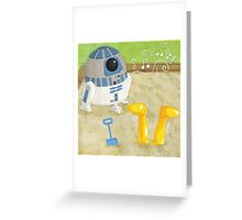 Star Wars babies - inspired by R2-D2 and C-3PO Greeting Card