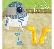 Star Wars babies - inspired by R2-D2 and C-3PO Photographic Print