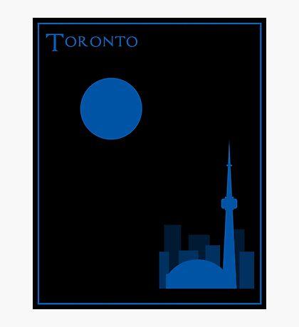 Toronto Minimalist Travel Poster Photographic Print