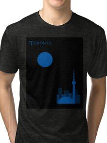 Toronto Minimalist Travel Poster Tri-blend T-Shirt