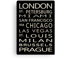 Classic Cities Old Bus Sign Canvas Print