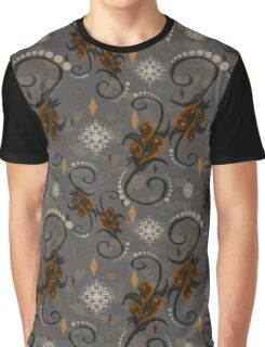 Pearls Rust Floral Graphic T-Shirt
