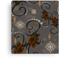 Pearls Rust Floral Canvas Print