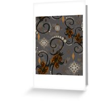 Pearls Rust Floral Greeting Card