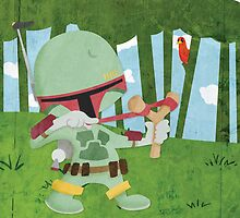 Star Wars babies - inspired by Boba Fett by GinormousRobot