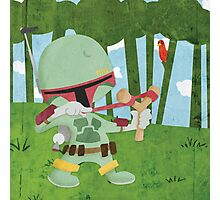 Star Wars babies - inspired by Boba Fett Photographic Print